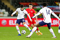 SWANSEA, WALES - NOVEMBER 12: Johnny #16 of the United States passes off the ball during a game between Wales and USMNT at Liberty Stadium on November 12, 2020 in Swansea, Wales.