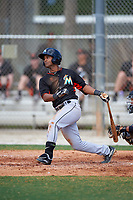 Miami Marlins Giovanny Alfonzo (72) during a minor league Spring Training intrasquad game on March 31, 2016 at Roger Dean Sports Complex in Jupiter, Florida.  (Mike Janes/Four Seam Images)