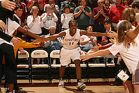 25 February 2006: Candice Wiggins during Stanford's 78-47 win over the Washington State Cougars at Maples Pavilion in Stanford, CA.