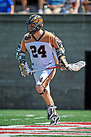 23 August 2008: Rochester Rattlers' Attackman John Grant in action against the Philadelphia Barrage during the Semi-Finals of the Major League Lacrosse Championship Weekend at Harvard Stadium in Boston, MA. The Rattlers defeated the Barrage 16-15 in sudden death overtime, advancing to the upcoming Championship Game...Mandatory Photo Credit: Ed Wolfstein Photo