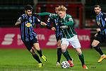 13.01.2021, xtgx, Fussball 3. Liga, VfB Luebeck - SV Waldhof Mannheim emspor, v.l. Hamza Saghiri (Mannheim, 35) Pascal Steinwender (Luebeck, 22) <br /> <br /> (DFL/DFB REGULATIONS PROHIBIT ANY USE OF PHOTOGRAPHS as IMAGE SEQUENCES and/or QUASI-VIDEO)<br /> <br /> Foto © PIX-Sportfotos *** Foto ist honorarpflichtig! *** Auf Anfrage in hoeherer Qualitaet/Aufloesung. Belegexemplar erbeten. Veroeffentlichung ausschliesslich fuer journalistisch-publizistische Zwecke. For editorial use only.