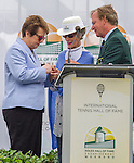Billie Jean King receives her HOF Ring  at  the 2015 Induction Ceremony at the International Tennis Hall of Fame, Newport, RI USA.  The ceremony took place on July 18, 2015