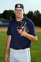 June 21st 2008:  Pitcher Mike McGuire of the Mahoning Valley Scrappers, Class-A affiliate of the Cleveland Indians, during a game at Dwyer Stadium in Batavia, NY.  Photo by:  Mike Janes/Four Seam Images