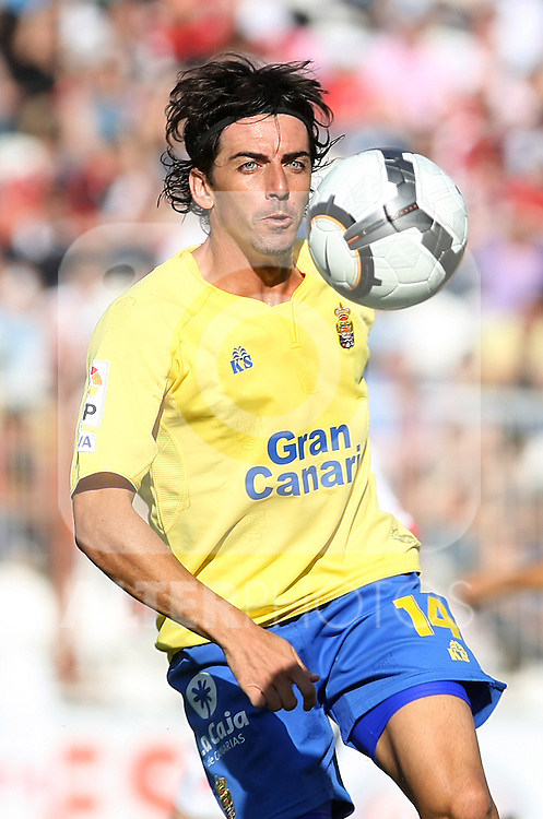 Las Palmas' Javi Guerrero during La Liga 2th Division match, April 10 2010. (ALTERPHOTOS/Acero).