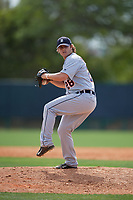 Detroit Tigers pitcher Burris Warner (28) during a minor league Spring Training game against the Atlanta Braves on March 25, 2017 at the ESPN Wide World of Sports Complex in Orlando, Florida.  (Mike Janes/Four Seam Images)
