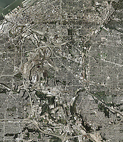 aerial photo map of Cleveland, Ohio.  For the most recent aerial photo map of Cleveland, please contact Aerial Archives.