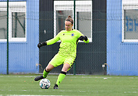 Brugge's goalkeeper Elke Geeraert pictured during a female soccer game between Club Brugge Dames YLA and Zulte Waregem Ladies on the third matchday of the 2020 - 2021 season of Belgian Scooore Womens Super League , saturday 3 October 2020  in Brugge , Belgium . PHOTO SPORTPIX.BE | SPP | DAVID CATRY