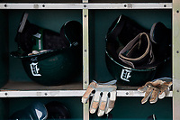 Dartmouth Big Green batting helmets and gloves during practice before a game against the USF Bulls on March 17, 2019 at USF Baseball Stadium in Tampa, Florida.  USF defeated Dartmouth 4-1.  (Mike Janes/Four Seam Images)