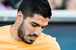 Luis Suarez of FC Barcelona prior to the La Liga match between Atletico de Madrid and FC Barcelona at the Santiago Bernabeu Stadium on 26 February 2017 in Madrid, Spain. Photo by Diego Gonzalez Souto / Power Sport Images