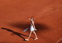 10th October 2020, Roland Garros, Paris, France; French Open tennis, Ladies singles final 2020;  Sofia Kenin of the United States reacts during the womens singles final against Iga Swiatek of Poland at the French Open tennis tournament