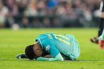 Neymar da Silva Santos Junior of FC Barcelona lies injured on the pitch during their Copa del Rey Round of 16 first leg match between Athletic Club and FC Barcelona at San Mames Stadium on 05 January 2017 in Bilbao, Spain. Photo by Victor Fraile / Power Sport Images