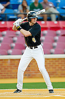 Zane Yanzick #4 of the Wake Forest Demon Deacons at bat against the Miami Hurricanes at Gene Hooks Field on March 18, 2011 in Winston-Salem, North Carolina.  Photo by Brian Westerholt / Four Seam Images