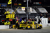 NASCAR Camping World Truck Series<br /> TheHouse.com 225<br /> Chicagoland Speedway, Joliet, IL USA<br /> Friday 15 September 2017<br /> Cody Coughlin, JEGS Toyota Tundra make a pit stop<br /> World Copyright: Logan Whitton<br /> LAT Images