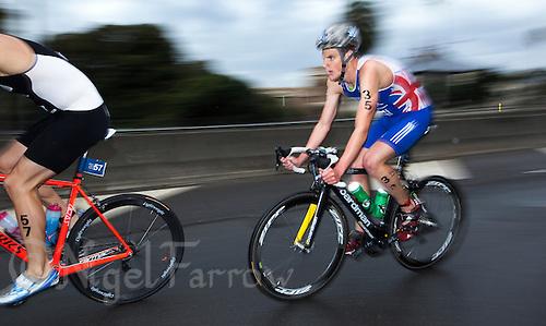 10 APR 2011 - SYDNEY, AUS - Jonathan Brownlee - men's ITU World Championship Series triathlon in Sydney, Australia .(PHOTO (C) NIGEL FARROW)
