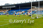 Dara Moynihan, Kerry has a shot at goal during the Allianz Football League Division 1 South between Kerry and Dublin at Semple Stadium, Thurles on Sunday.