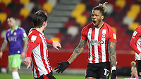 Ivan Toney celebrates scoring Brentford's second goal during Brentford vs Bristol City, Sky Bet EFL Championship Football at the Brentford Community Stadium on 3rd February 2021