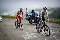 Michael Woods (CAN/Israel Start-Up Nation) & Anthony Perez (FRA/Cofidis) in the final kilometers up the final climb of the day; the Col du Portet (HC/2215m)<br /> <br /> Stage 17 from Muret to Saint-Lary-Soulan (Col du Portet)(178km)<br /> 108th Tour de France 2021 (2.UWT)<br /> <br /> ©kramon