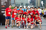 Pre-Race activities at the Bloomberg Square Mile Relay near the Huangpu River in Shanghai, China. Photo by Lucas Schifres / Power Sport Images