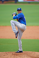 Dunedin Blue Jays pitcher Conner Greene (13) delivers a pitch during a game against the Charlotte Stone Crabs on July 26, 2015 at Charlotte Sports Park in Port Charlotte, Florida.  Charlotte defeated Dunedin 2-1 in ten innings.  (Mike Janes/Four Seam Images)