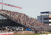 Sep 5, 2020; Clermont, Indiana, United States; NHRA fans in the grandstands during qualifying for the US Nationals at Lucas Oil Raceway. Mandatory Credit: Mark J. Rebilas-USA TODAY Sports