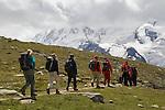 Climbers near the Matterhorn above Zermatt, Switzerland, .  John leads hiking and photo tours throughout Colorado.