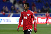 Harrison, NJ - Thursday March 01, 2018: Michael Murillo. The New York Red Bulls defeated C.D. Olimpia 2-0 (3-1 on aggregate) during a 2018 CONCACAF Champions League Round of 16 match at Red Bull Arena.