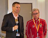 20-12-13,Netherlands, Rotterdam,  Topsportcentrum, Tennis Masters, Press presentation with Jan Siemerink and Martin Bohm<br /> Photo: Henk Koster