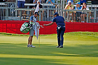 3rd July 2021, Detroit, MI, USA;  Phil Mickelson putts out on the 9th hole on July 3, 2021 during the Rocket Mortgage Classic at the Detroit Golf Club in Detroit, Michigan.