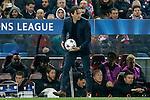 Bayer 04 Leverkusen's coach Roger Schmidt during Champions League 2014/2015 match.March 16,2015. (ALTERPHOTOS/Acero)