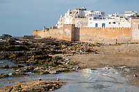 Essaouira, Morocco.  Town Ramparts from the Sea Side.