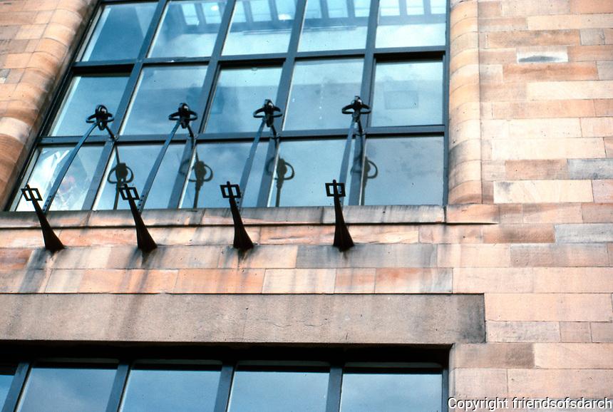 C.R. Mackintosh: Glasgow Art School--Window detail, East wing.