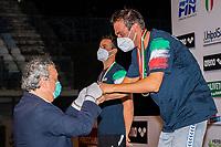 BARELLI Paolo Presidente FIN (L), PALTRINIERI Gregorio (R)<br /> 1500 Freestyle Men<br /> Roma 13/08/2020 Foro Italico <br /> FIN 57 LVII Trofeo Sette Colli - Campionati Assoluti 2020 Internazionali d'Italia<br /> Photo Giorgio Scala/DBM/Insidefoto