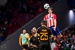 Filipe Luis Kasmirski of Atletico de Madrid runs with the ball during the UEFA Champions League 2017-18 match between Atletico de Madrid and AS Roma at Wanda Metropolitano on 22 November 2017 in Madrid, Spain. Photo by Diego Gonzalez / Power Sport Images