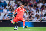 Goalkeeper Keylor Navas of Real Madrid in action during their La Liga 2017-18 match between Real Madrid and Valencia CF at the Estadio Santiago Bernabeu on 27 August 2017 in Madrid, Spain. Photo by Diego Gonzalez / Power Sport Images