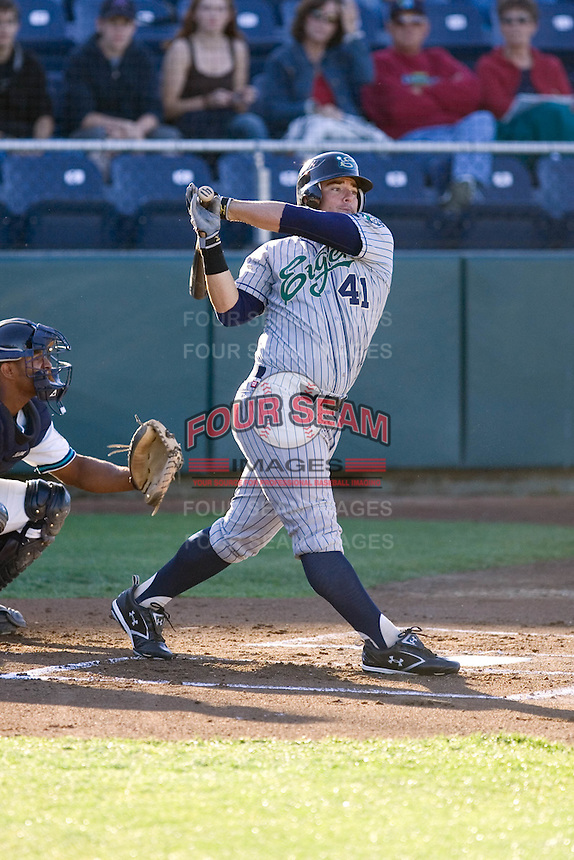 July 16, 2008: The Eugene Emeralds' Robert Blauer at-bat during a Northwest League game against the Everett AquaSox at Everett Memorial Stadium in Everett, Washington.