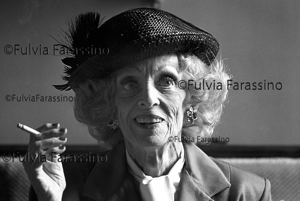 Bette Davis a Villa D'Este a Cernobbio, 1988