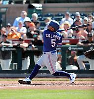 Willie Calhoun - Texas Rangers 2020 spring training (Bill Mitchell)