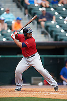 Columbus Clippers first baseman Jesus Aguilar (30) at bat during a game against the Buffalo Bisons on July 19, 2015 at Coca-Cola Field in Buffalo, New York.  Buffalo defeated Columbus 4-3 in twelve innings.  (Mike Janes/Four Seam Images)