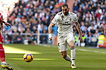 Real Madrid's Karim Benzema during La Liga match between Real Madrid and Girona FC at Santiago Bernabeu Stadium in Madrid, Spain. February 17, 2019. (ALTERPHOTOS/A. Perez Meca)