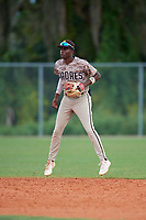 Michael Braswell (11) during the WWBA World Championship at Lee County Player Development Complex on October 11, 2020 in Fort Myers, Florida.  Michael Braswell, a resident of Mableton, Georgia who attends Campbell High School, is committed to South Carolina.  (Mike Janes/Four Seam Images)
