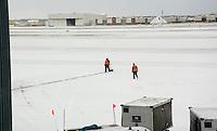 Your job: Shovel the runway when the snowplow isn't running. #JobSecurity DTW