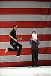 D'APRES LE CAS GAGE OU LES AVENTURES DE PHINEAS EN AMERIQUE<br /> <br /> Danse : Sylvain Prunenec, Valeria Giuga<br /> Textes : Anne James Chaton<br /> Lumières : Eric Da Graça Neves<br /> Espace : Huber Colas<br /> Cadre : Festival Uzes danse 2013<br /> Lieu : Jardin de L'Evêché<br /> Ville : Uzes<br /> 18/06/2013<br /> © Laurent Paillier / photosdedanse.com