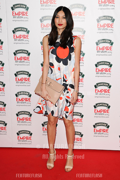 Gemma Chan<br /> arives for the Empire Magazine Film Awards 2014 at the Grosvenor House Hotel, London. 30/03/2014 Picture by: Steve Vas / Featureflash