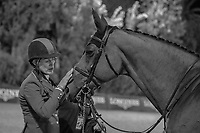 USA-Schuyler Riley rides Robin de Ponthual during the Longines FEI Jumping Nations Cup™ Final - First Round. 2021 ESP-Longines FEI Jumping Nations Cup Final. Real Club de Polo, Barcelona. Spain. Friday 1 October 2021. Copyright Photo: Libby Law Photography
