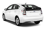 Car pictures of rear three quarter view of 2015 Toyota Prius Comfort 5 Door Hatchback Angular Rear