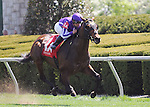 Hootenanny and jockey Javier Castellano win Race 4 at Keeneland for owners Mrs. John Magnier, Michael Tabor and Derrick Smith and trainer Wesley Ward