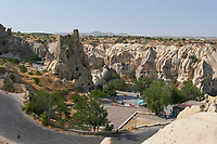 Panorama of the Goreme Open Air museum valley in Cappadocia