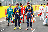 VERSTAPPEN Max (ned), Red Bull Racing Honda RB16B, portrait PEREZ Sergio (mex), Red Bull Racing Honda RB16B, portrait during the Formula 1 Pirelli British Grand Prix 2021, 10th round of the 2021 FIA Formula One World Championship from July 16 to 18, 2021 on the Silverstone Circuit, in Silverstone, United Kingdom -  <br /> Formula 1 GP Great Britain Silverstone 15/07/2021<br /> Photo DPPI/Panoramic/Insidefoto <br /> ITALY ONLY
