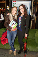 NO FEE PICTURES.1/5/12 Fair City's Kerrie O'Sullivan and Aoibheann McCaul at the opening night of the world premiere of Fiona Looney's new play Greener at the Gaiety Theatre, Dublin. Picture:Arthur Carron/Collins