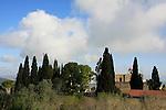Israel, Jezreel valley. The Greek Orthodox monastery St. Elias, named after Elijah the prophet on Mount Tabor.